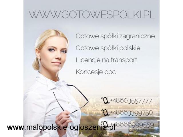 Gotowa Spółka Zagraniczna z VAT UE Niemcy, Łotwa, Bułgaria, Czechy, Słowacja, Hiszpania KONCESJE